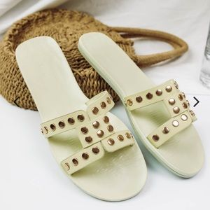 🆕 Sia Studded Ivory Sandals